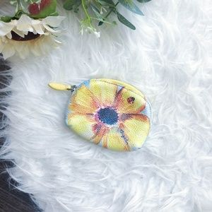 BRIGHTON FLORAL LEATHER COIN PURSE